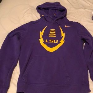 Nike LSU football hoodie with front pockets